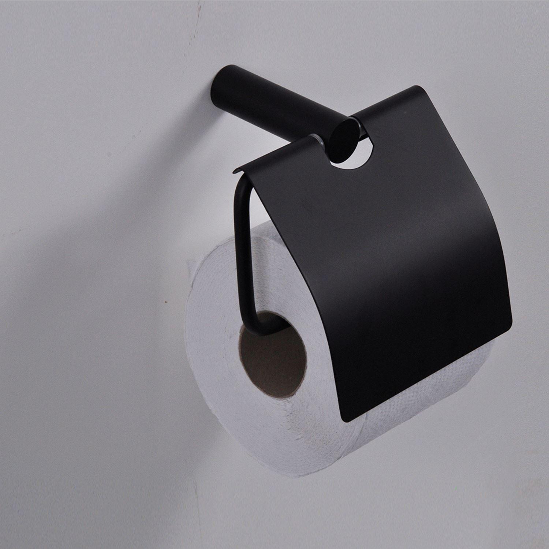 Sanitair-producten 68604 Toiletrolhouder Wiesbaden Ida met klep Zwart