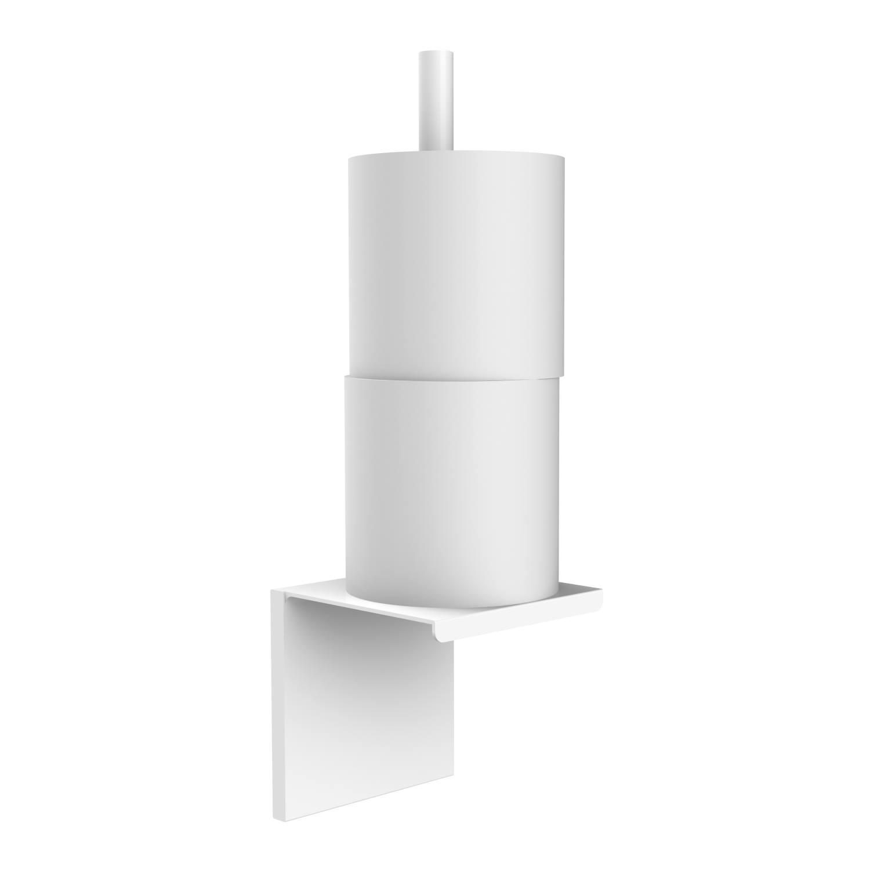 Closetrolhouder Allibert Loft-Game Hangend Model Mat Wit (ruimte voor twee rollen) voordeel