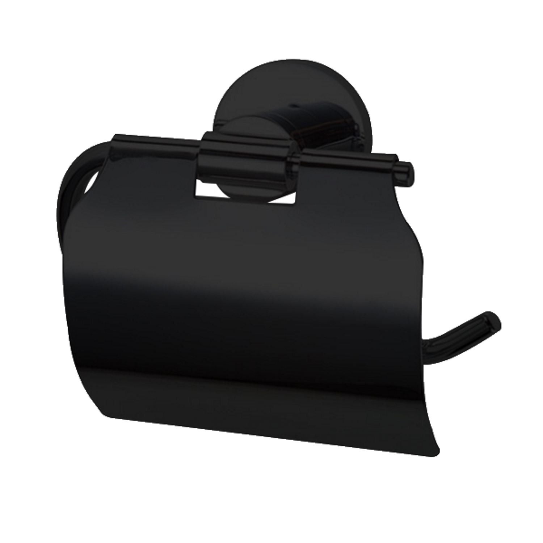 Sanitair-producten 72354 Toiletrolhouder Best Design Nero Zwart met klep