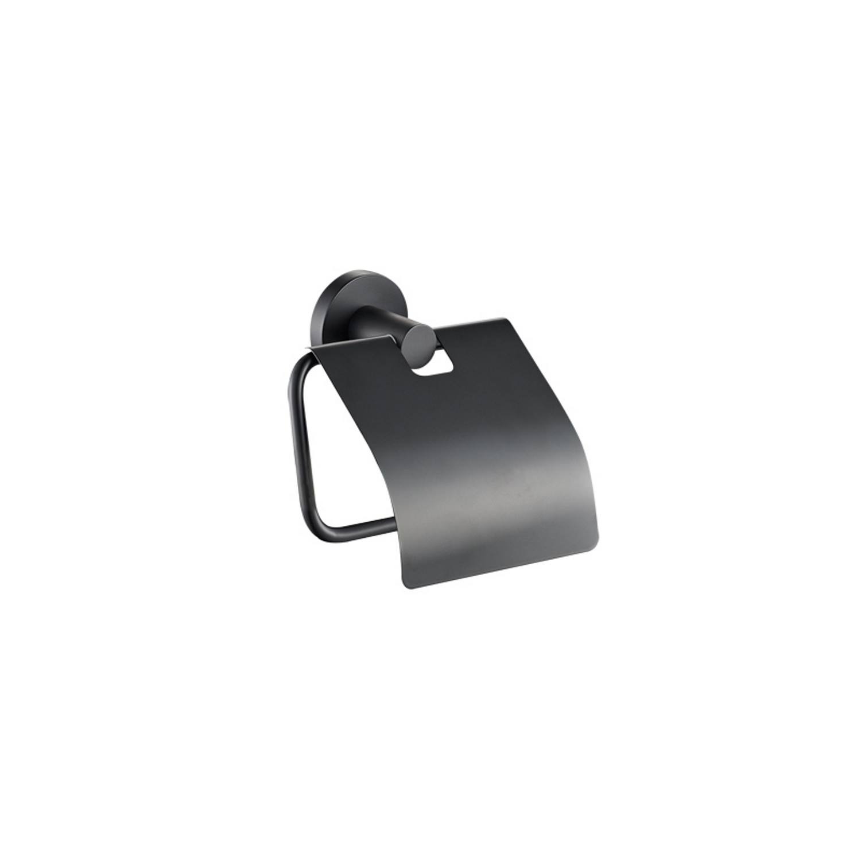 Toiletrolhouder Plieger Vigo met Klep Mat Zwart voordeel
