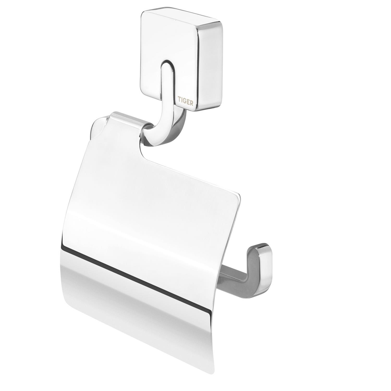 Tiger impuls toiletrolhouder + klep chroom
