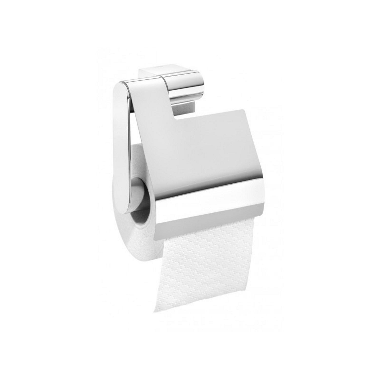Tiger Nomad toiletrolhouder met klep 12.5x13.4x5.6cm Metaal Chroom