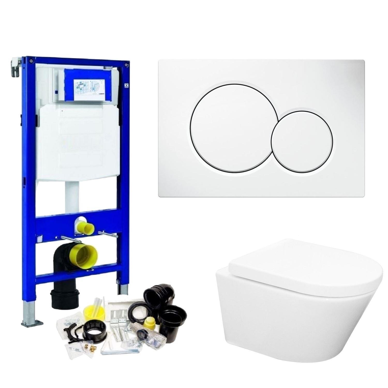 Geberit UP320 Toiletset set24 Wiesbaden Vesta Rimless 52 cm met Sigma drukplaat Toilet Toiletset