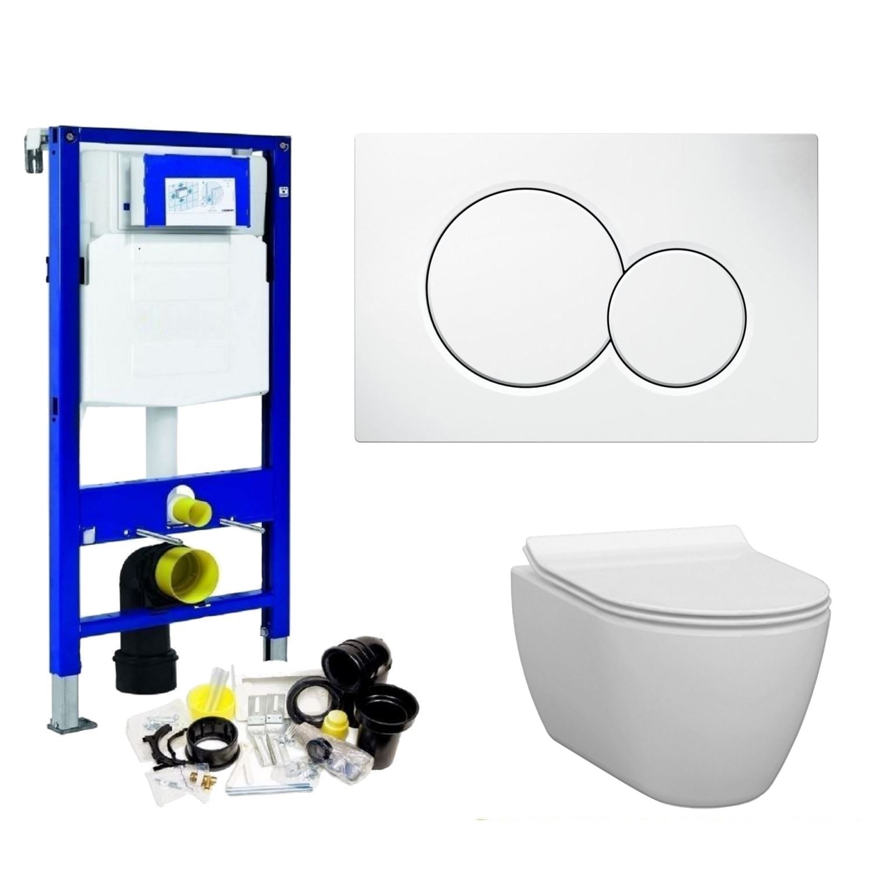 Toilet Toiletset kopen? Geberit UP320 Toiletset set33 Idevit Alfa Randloos Keramiek Diepspoel 36x52x30cm Sigma drukplaat met korting