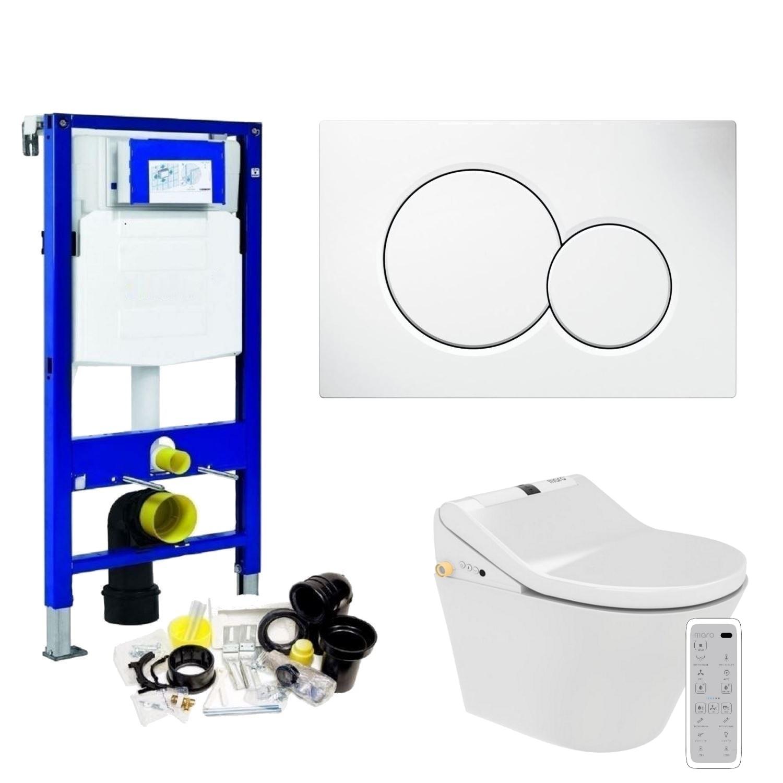 Geberit UP320 Toiletset set40 Maro D'Italia DI600 Douchewc met Sigma drukplaat vergelijken Toiletset kopen Geberit ervaringen
