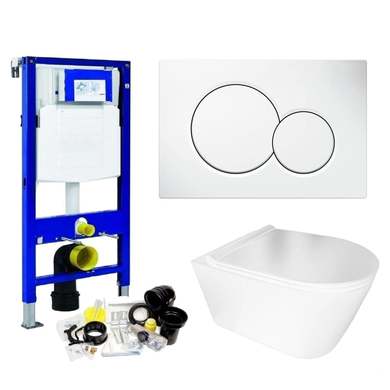 Geberit UP320 Toiletset Set50 BWS Plana Rimless Glans Wit Met Sigma Drukplaat voordeel