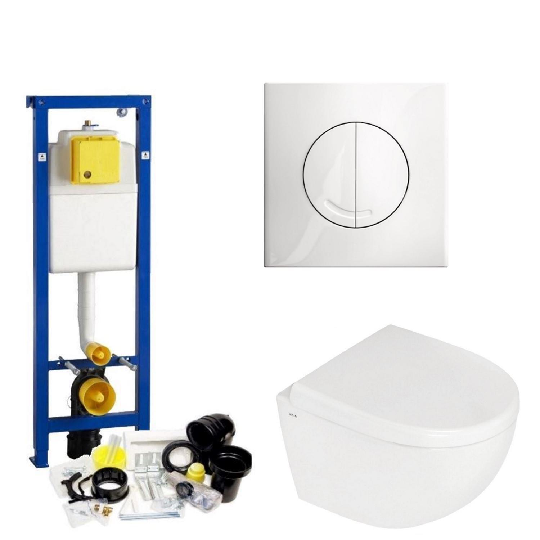 Toilet Toiletset kopen? Wisa XS set28 Zero Compact (Met Argos of Delos drukplaat) met korting