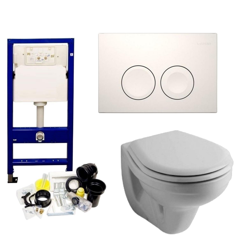 Geberit UP100 Toiletset set03 Sphinx Econ 2.0 met Delta drukplaten
