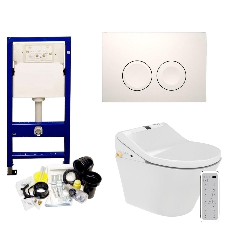 Geberit UP100 Toiletset set40 Maro D'Italia DI600 Douchewc met Delta drukplaat vergelijken Toiletset kopen Geberit ervaringen