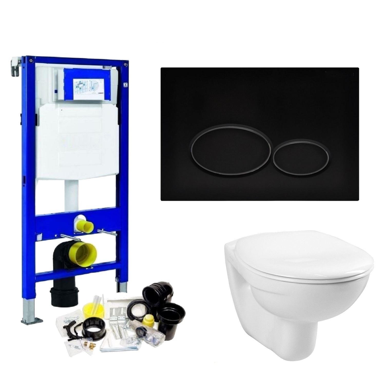 Ongekend Geberit UP320 Toiletset set01 Basic Smart Met Matzwarte Drukplaat WO-76