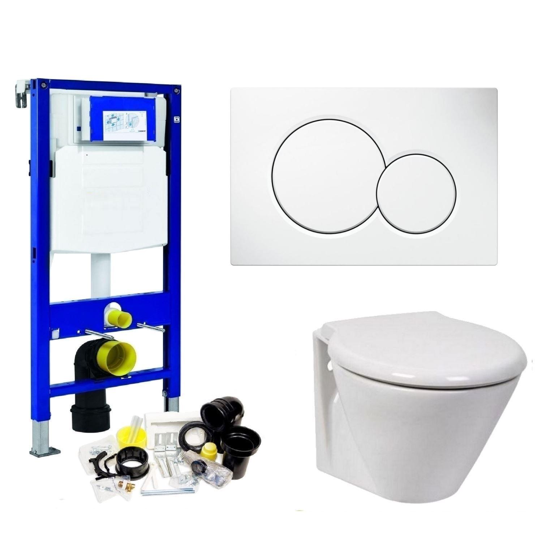 Toilet Toiletset kopen? Geberit UP320 Toiletset set07 Wiesbaden Prio Randloos met Sigma drukplaat met korting