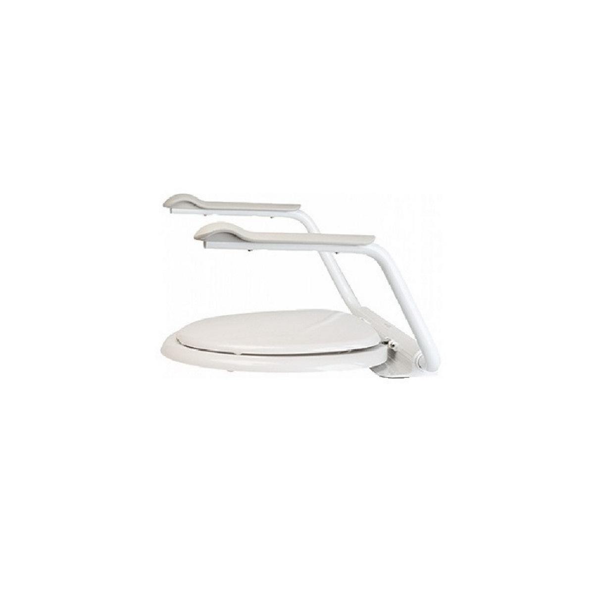 ETAC toiletsteun Supporter II, staal. m-epoxy coating, wit
