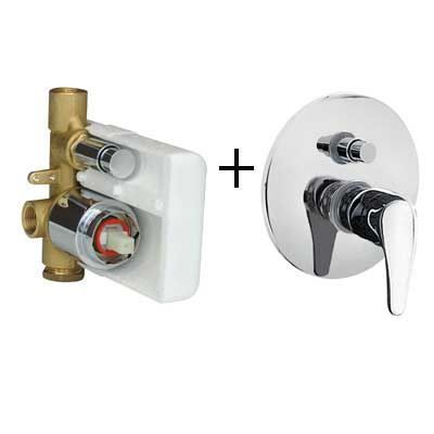 Sanitair-producten 15925 Tres Eco inbouw douchekraan met omsteller chroom 0701800212