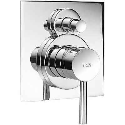 Sanitair-producten 14146 Tres Max Inbouw bad/douchemengkraan Chroom 162180