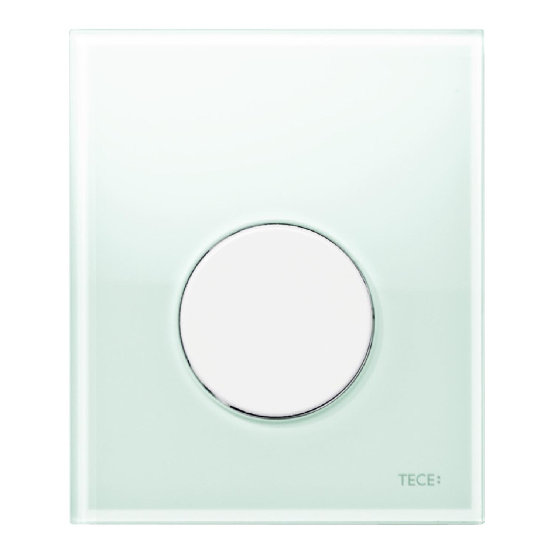 Productafbeelding van Urinoir Bedieningsplaat TECE Loop Glas Mintgroen 10,4x12,4 cm (met witte toets)