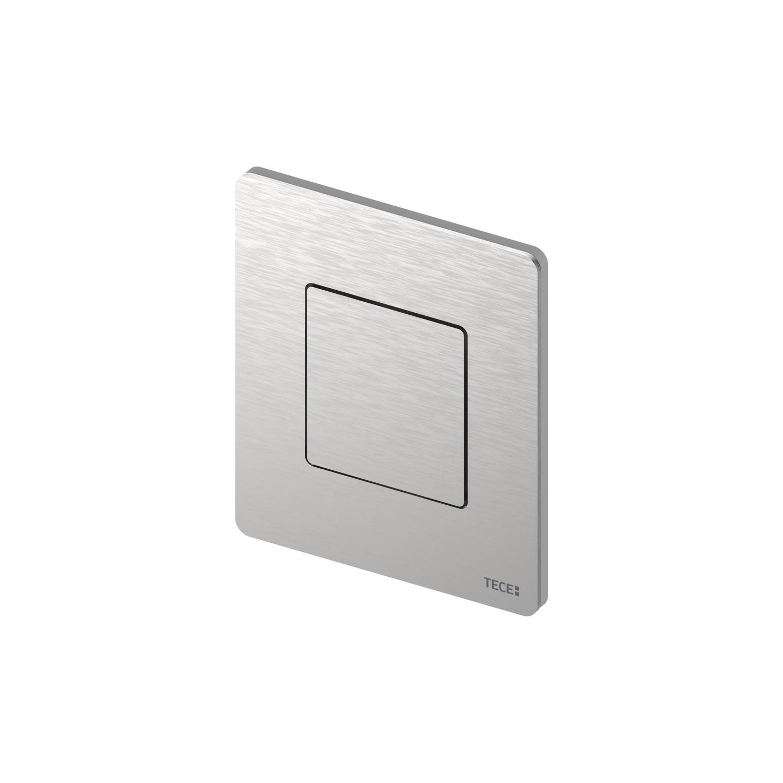 Productafbeelding van Urinoir Bedieningsplaat TECE Solid 10,4x12,4 cm RVS Geborsteld inclusief Cartouche en Beschermlaag
