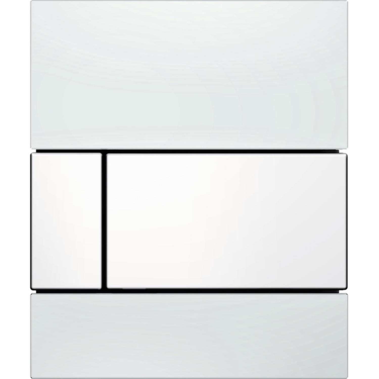 Urinoir Bedieningsplaat TECE Square Glas Wit 10,4x12,4 cm (met witte toetsen) kopen - Tegel Depot sanitair met korting