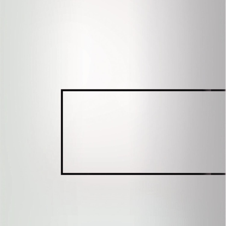 Productafbeelding van Urinoir Bedieningsplaat TECE Square Metaal Glanzend Wit 12,4x14,4 cm