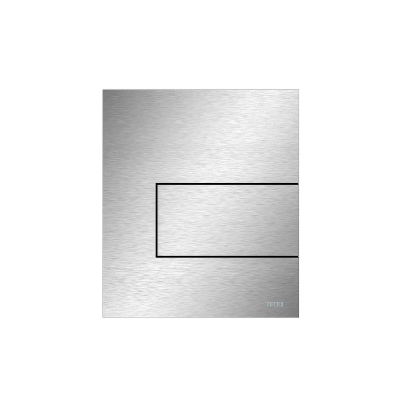 Productafbeelding van Urinoir Bedieningsplaat TECE Square Metaal RVS Geborsteld 12,4x14,4 cm