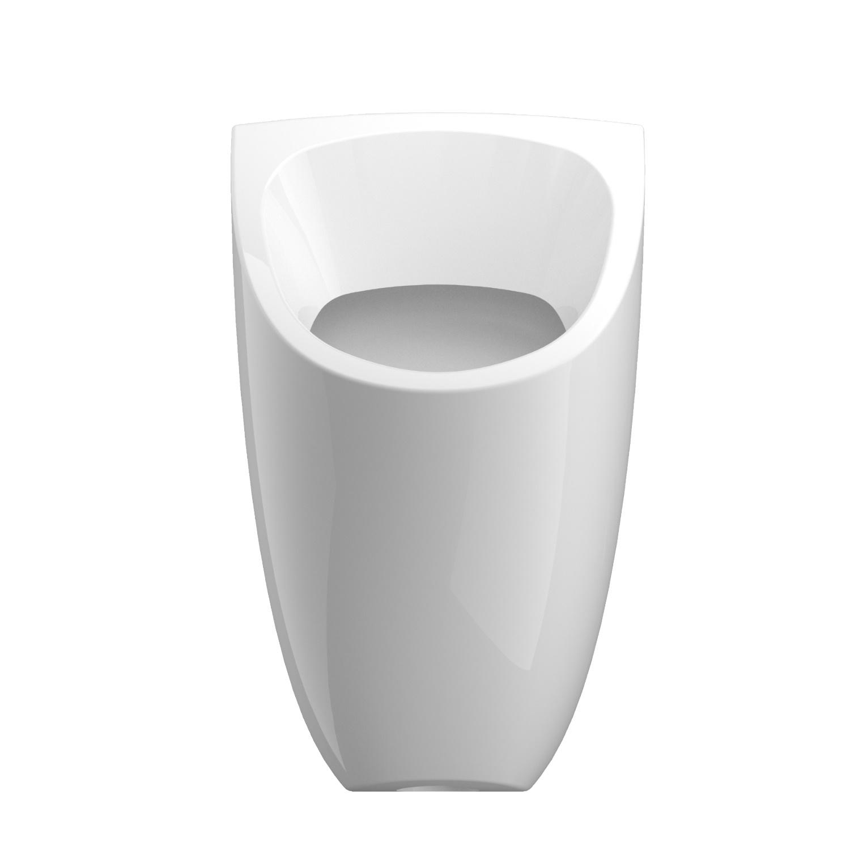Urinoir Ipee U1 Edge Keramiek Instelbaar Spoelvolume Achterinlaat 58x37x35 cm Wit