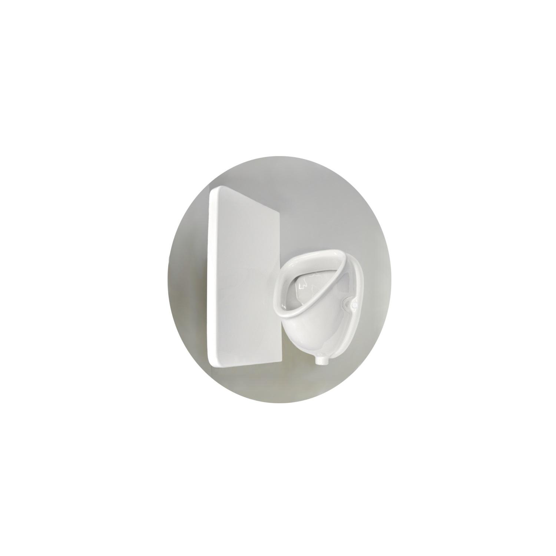 Urinoir Sanicare Witte Kleur Inclusief Boveninlaat En Onderafvoer 45x32x31 cm voordeel