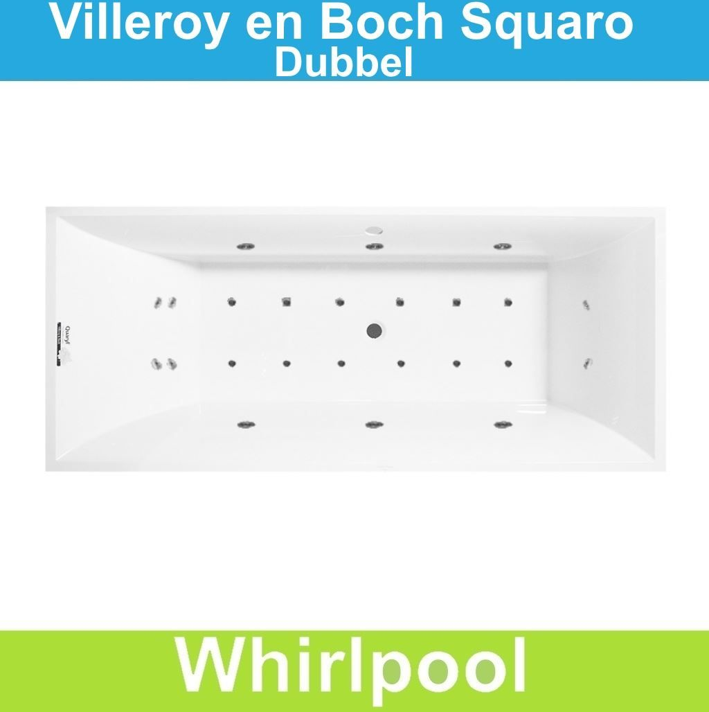 villeroy en boch squaro edge 12 ligbad 180x80cm wit in de aanbieding kopen. Black Bedroom Furniture Sets. Home Design Ideas