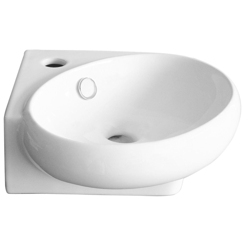Sanitair-producten 5595 VM GO Happy Hoekfontein wit 36 x 38,5 x 13,5 cm