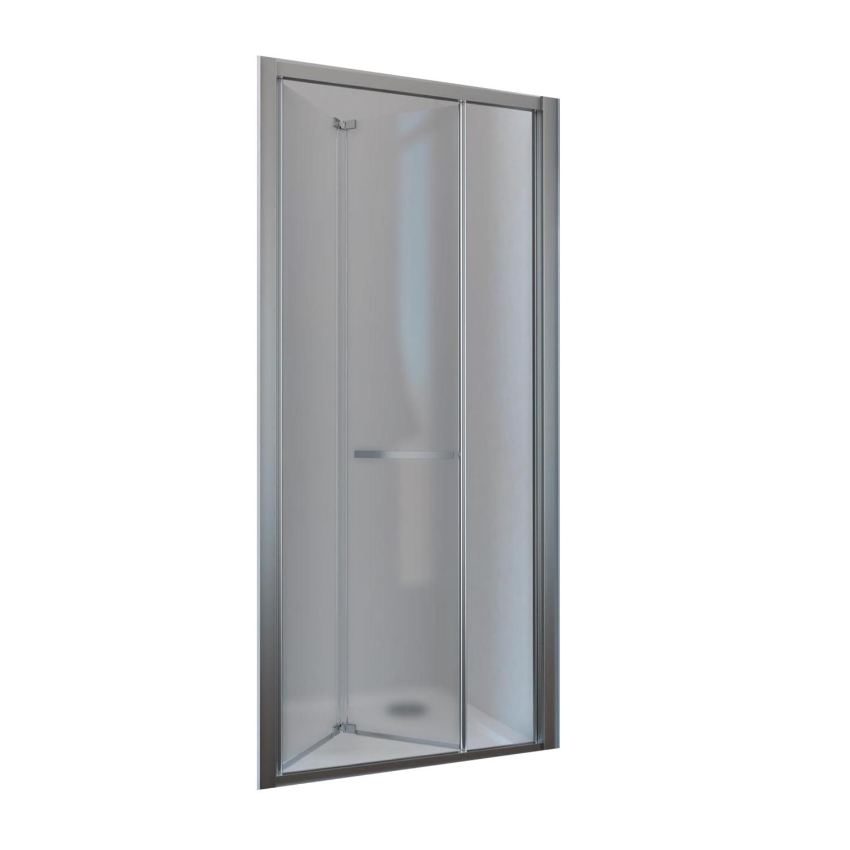 Vouwdeur Lacus Ponza Mat Glas 6mm Chroom Aluminium Profiel Chroom (alle maten)