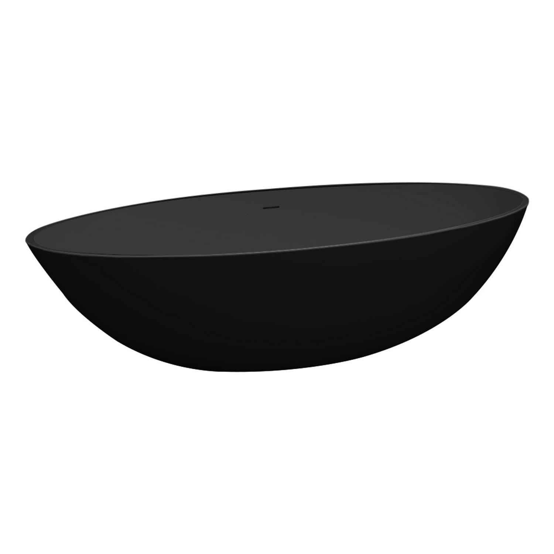 Vrijstaand Ligbad Best Design Just-Solid 180x85x52 cm Mat Zwart voordeel