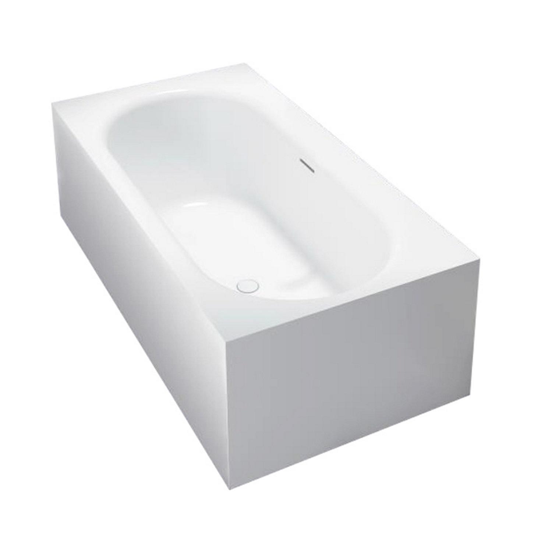 Badkamer Vrijstaand Bad Best Design Home 180x93x55 cm Solid Surface Mat Wit Vrijstaand bad
