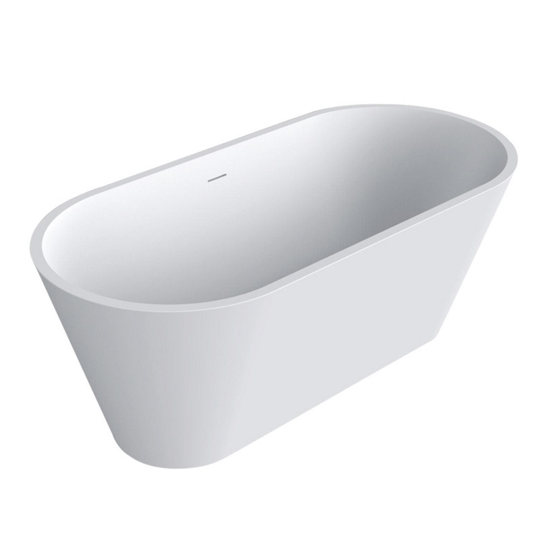 Badkamer Vrijstaand Bad Best Design Mooi 170x80x64 cm Solid Surface Mat Wit Vrijstaand bad