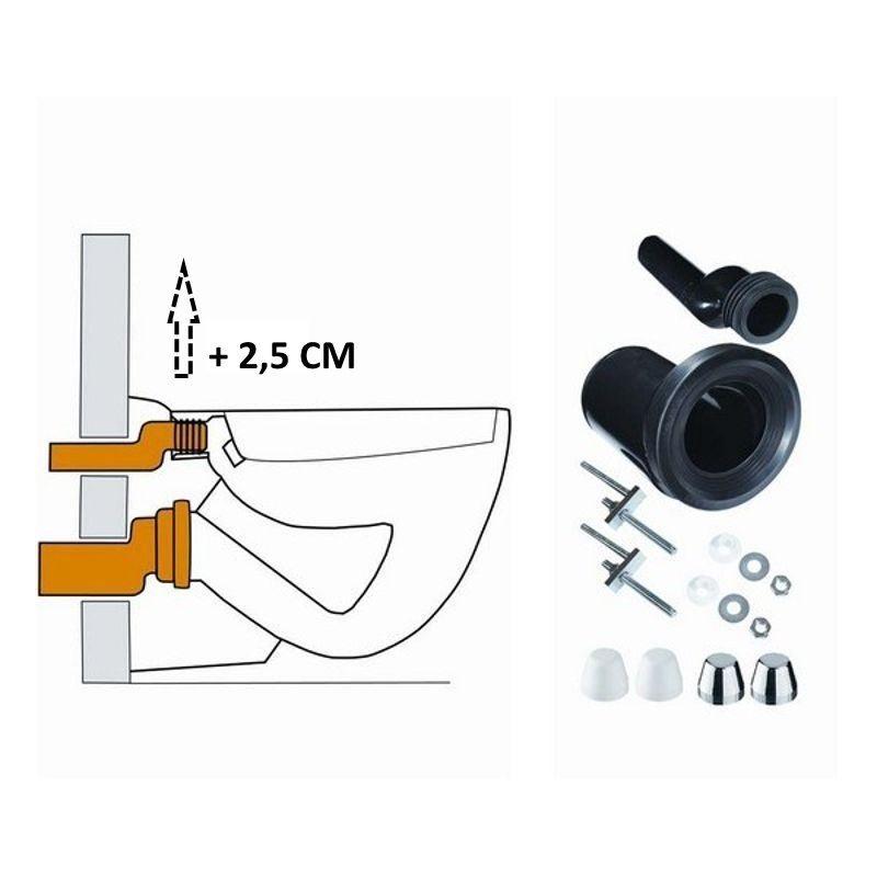 Wandcloset verhoogset tbv inbouwreservoir compleet Sanitair-producten > Toilet > Toiletonderdelen kopen