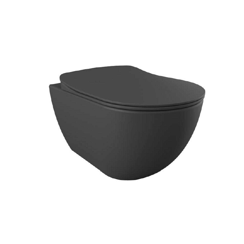 Wandcloset Creavit Freedom Mat Antraciet (Exclusief zitting) Toilet Hangtoilet