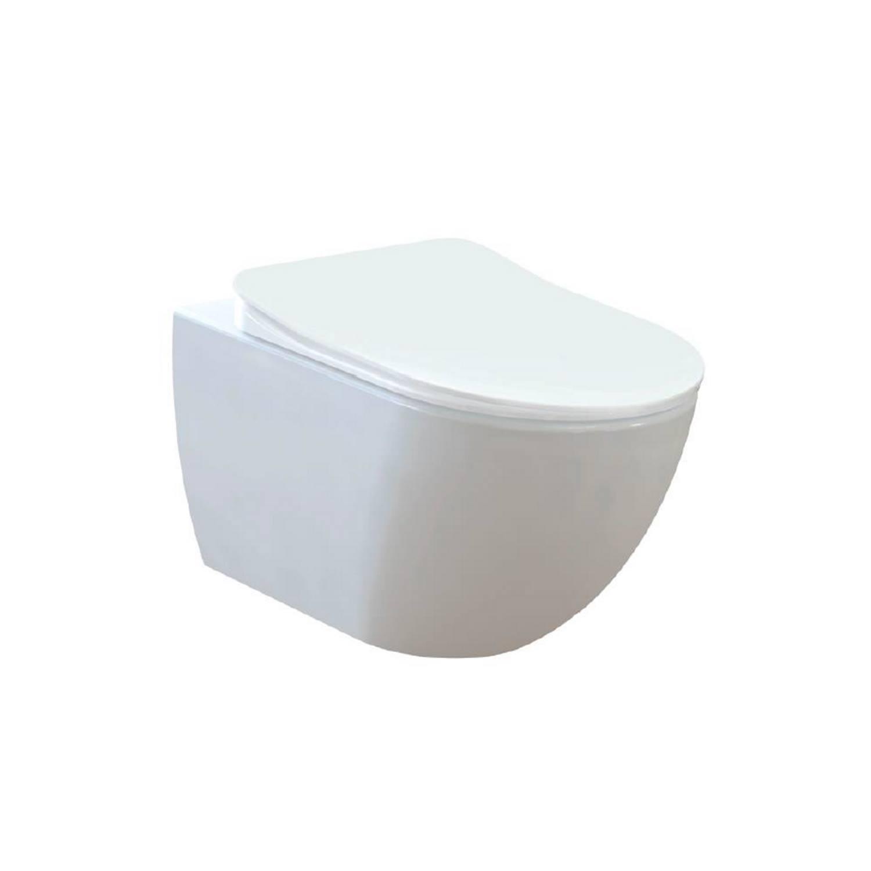 Wandcloset Creavit Freedom Randloos Mat Wit (Exclusief zitting) Toilet Hangtoilet