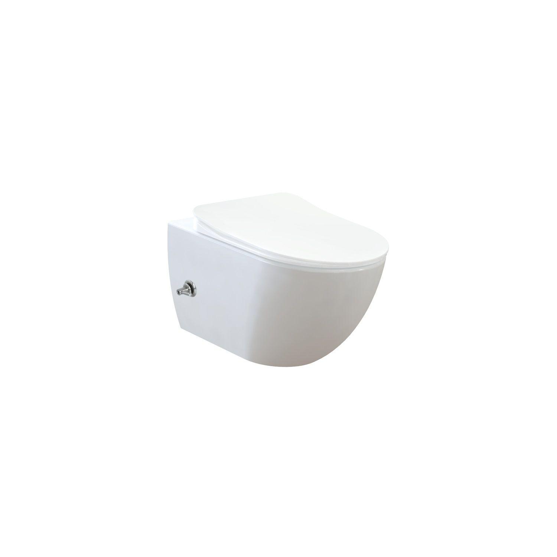 Geberit UP100 Toiletset set57 Bidet met Warm en Koud Water Randloos met Delta Drukplaat