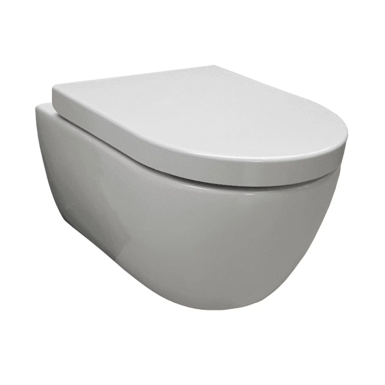 Wandcloset Sanilux Easy Flush Randloos Diepspoel (incl. zitting)