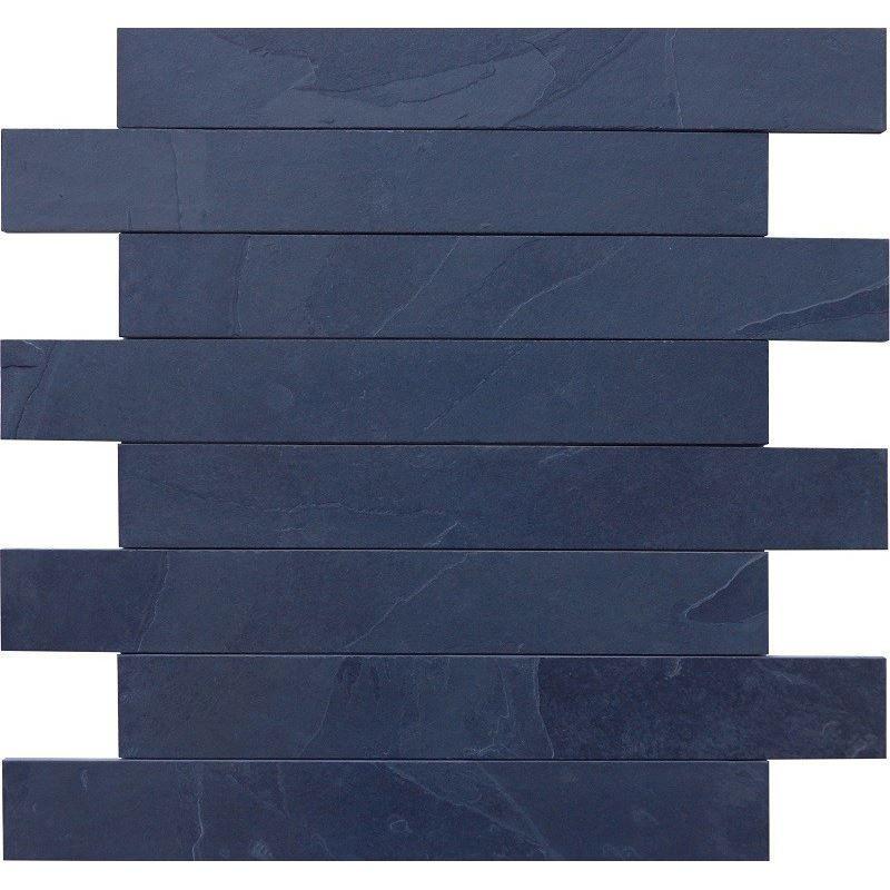 Natuursteen tegels Mustang black leisteen muurstroken 8cm (Doosinhoud 1 m²)