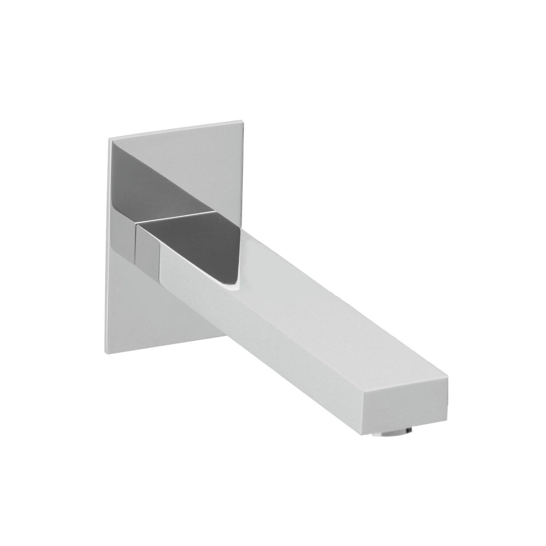 Productafbeelding van Wanduitloop Herzbach Design Neo Castell Vierkant Chroom 24 cm