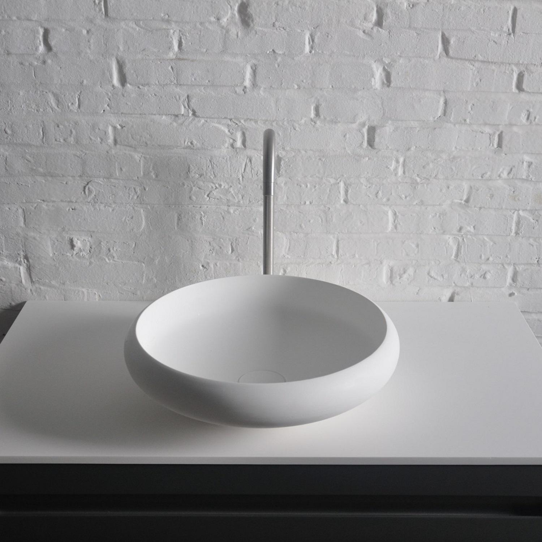 Opbouw Waskom Ideavit Solidego 40x11,2 cm Solid Surface Mat Wit