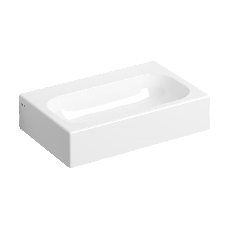 Wastafel Clou Mini Match Me 45x32x10cm Mineral Marmer Glans Wit (Met voorbewerkt Kraangat)