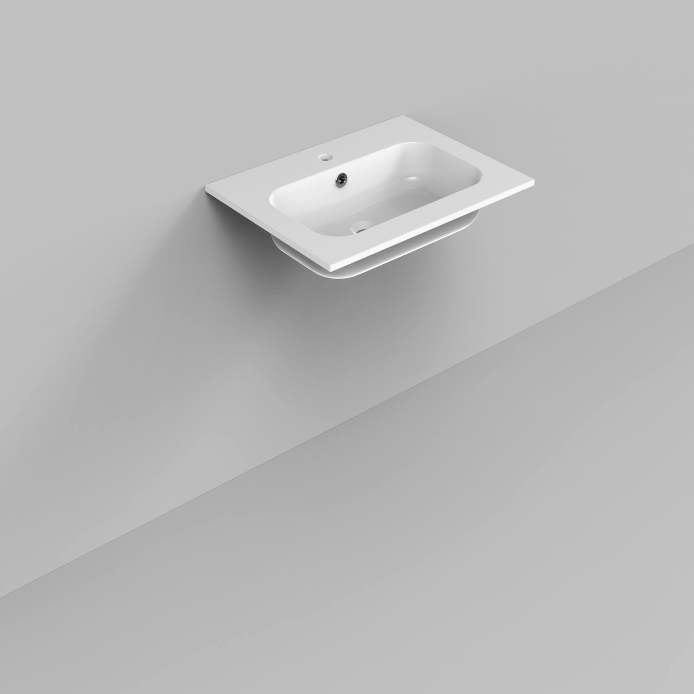 Badkamermeubels Wastafelmeubels kopen? Badkamermeubelset Industrieel BWS Frame Staand 60 Mat Zwart Aluminium (exclusief spiegel) met korting