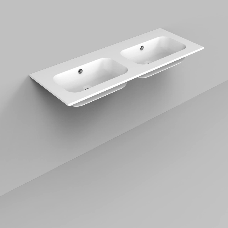 Badkamermeubelset Industrieel BWS Frame Hangend 120 Mat Zwart Aluminium (zonder kraangaten)