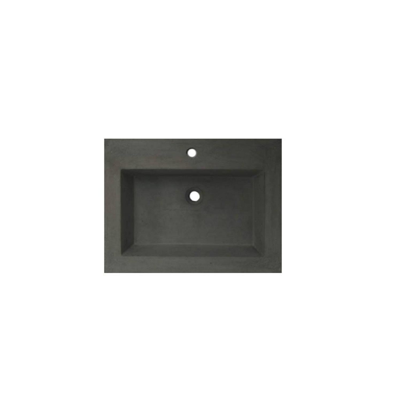 Wastafelblad van Sanilux kopen? Wastafelblad Sanilux 60x47x5 cm Beton-Grijs (1 kraangat) voor de Wastafels met korting