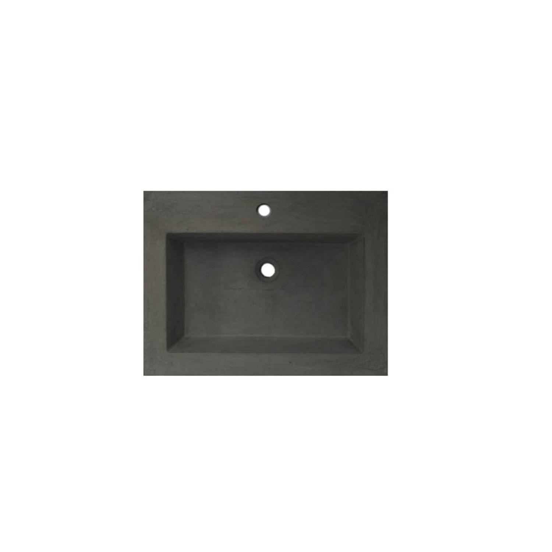 Wastafelblad van Sanilux kopen? Wastafelblad Sanilux 60x47x5 cm Beton-Grijs (0 kraangaten) voor de Wastafels met korting