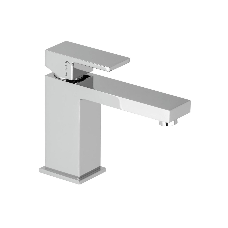 Wastafelkraan Herzbach Neo Castell Vierkant Design zonder Clickwaste Chroom kopen met korting doe je hier