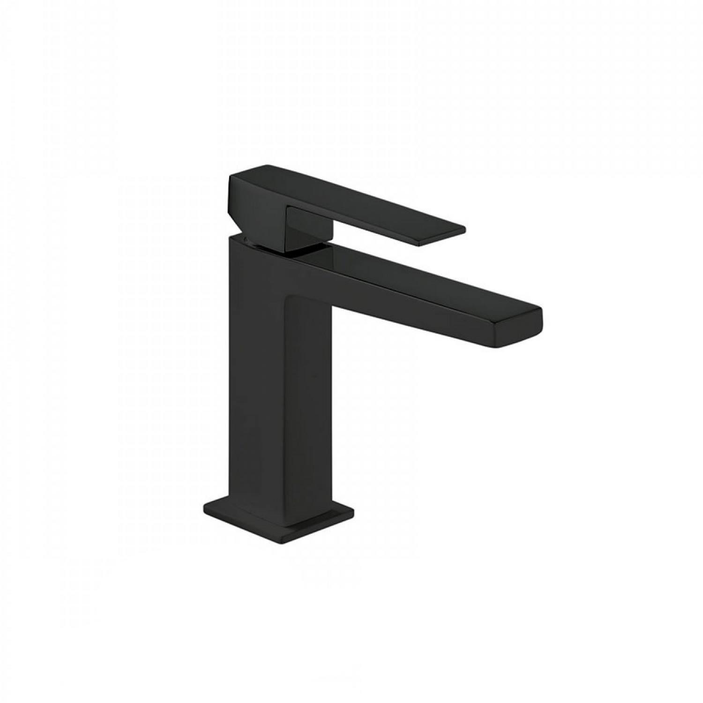 Wastafelmengkraan Tres Slim 1-Hendel Uitloop Recht 11.8 cm Vierkant Mat Zwart