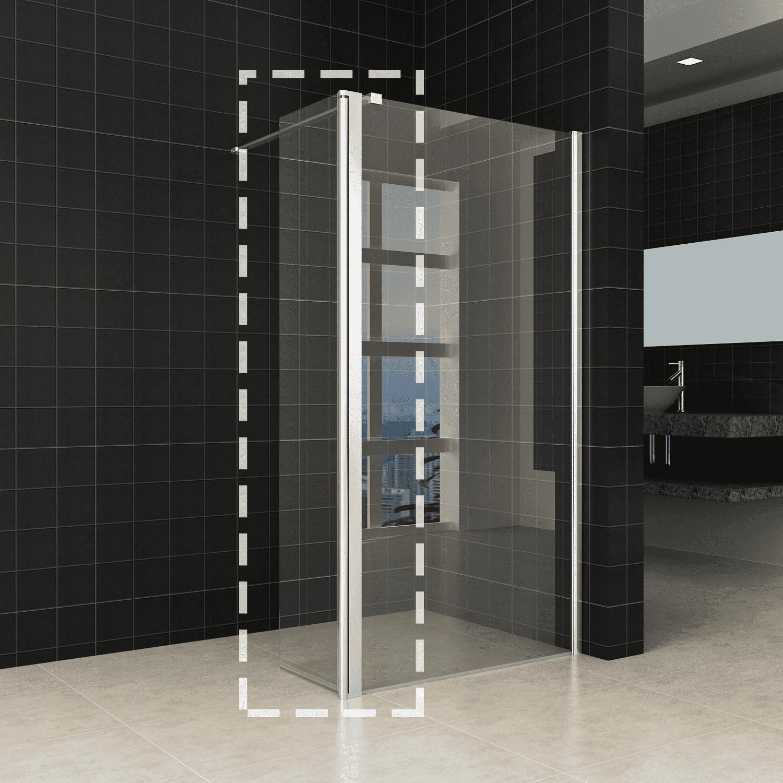 Sanitair-producten 47530 Wiesbaden zijwand 30×200 cm + scharnierprofiel 10mm NANO glas