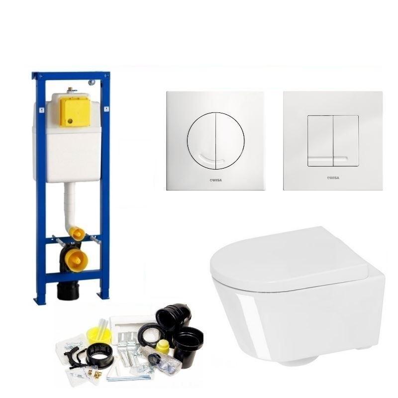 Toilet Toiletset kopen? Wisa XS set04 Calitri Urby compact (Met Argos of Delos drukplaat) met korting
