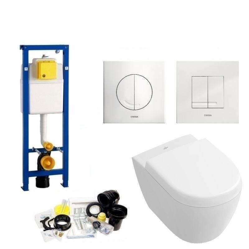 Toilet Toiletset kopen? Wisa XS set21 Subway 2.0 Compact (Met Argos of Delos drukplaat) met korting