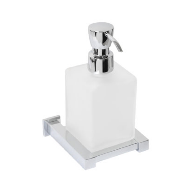 Plieger Cube zeepdispenser matglas chroom 4784184